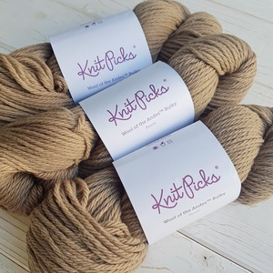 KnitPicks Wool of the Andes Bulky (Porcini) 100% шерсть 100 г/125 м